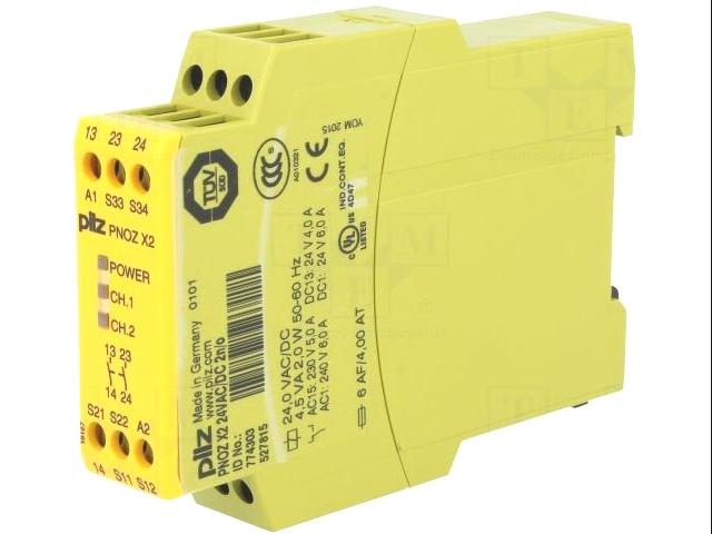PILZ 774-303 PNOZ//X2//24V SAFETY RELAY DPST-NC 6A 24VAC//DC